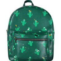 Cactus PU Leather Mini Backpack