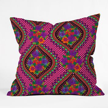 Aimee St Hill Ivy Pink Throw Pillow
