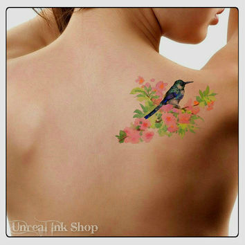 Temporary Tattoo Bird Waterproof Ultra Thin Realistic Fake Tattoos