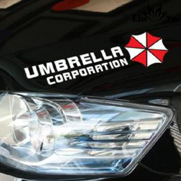 Resident Evil Umbrella corporrtion Car Stickers Eyebrow Sports Styling Auto Racing Decor Decoration Die Cut Decals