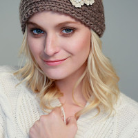 Applique Knit Headband