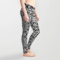 Black and White | Leyana series 3 Leggings by Webgrrl