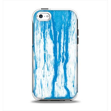 The Running Blue WaterColor Paint Apple iPhone 5c Otterbox Symmetry Case Skin Set