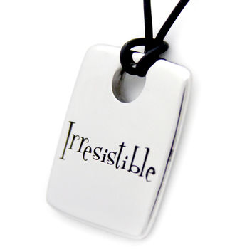 Irresistible Dog Tag Pendant Stainless Steel Necklace
