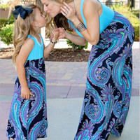 Maxi Mother and Daughter Clothes Family Look Matching