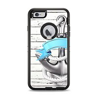 The Aged White Wood With Anchor Apple iPhone 6 Plus Otterbox Defender Case Skin Set