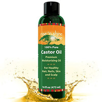 (16 oz) Pure Castor Oil - 100% Expeller Pressed Castor Oil, Great Moisturizer for Skin, Hair, and Scalp. Apply for Thicker Eyelashes, Hair Growth, Acne Reducer, Shampoo and DIY Massage Oil