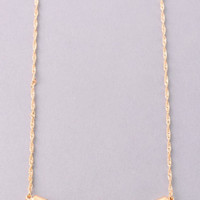 Curved Bar Necklace: Gold