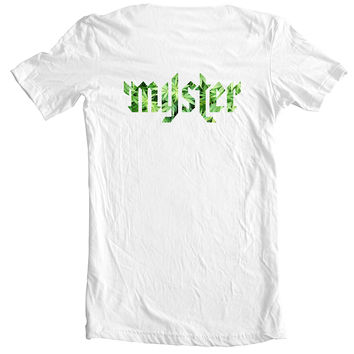 Myster Circle Logo Tee - Green Trees