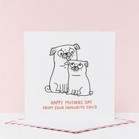 Ohh Deer x Gemma Correll Favourite Child Mothers Day Card at asos.com