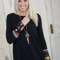 Tell Me Something Tunic (Black) - Piace Boutique