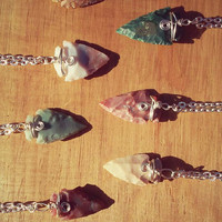 Mystery Arrowhead Necklace, Unique and One of a Kind Mystery Arrow Head Pendant