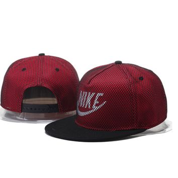 Retro Wine Nike Hook Embroidered Mesh Adjustable Outdoor Baseball Cap Hats