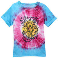 "ROMWE | Tie-dyed ""Graffiti Simpson"" T-shirt, The Latest Street Fashion"