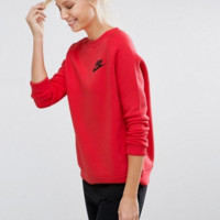 Nike: Fashion Sports Sweater Girl Men Red B-KWKWM