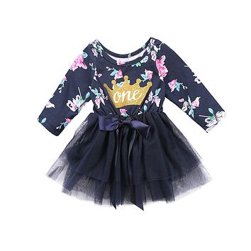 Fashion Flower Girl Tutu Princess Dress Baby Party Wedding Pageant Dresses Clothes