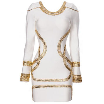 Aliexpress.com : Buy Best Seller,Free Shipping 2013 Summer Sass Bide Embellished Jersey White Bandage Dress H313V from Reliable  Bandage Dress suppliers on Online Store 419525