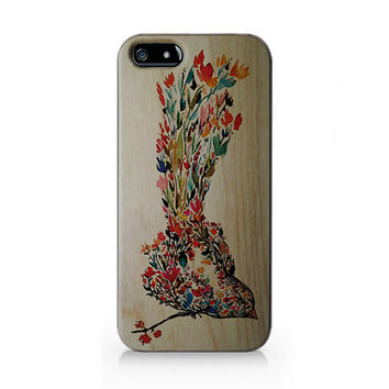 AW-019 Wood print bird Iphone4/4s, iphone5/5s/5c, ip6, samsung s3/s4/s5/note3 case