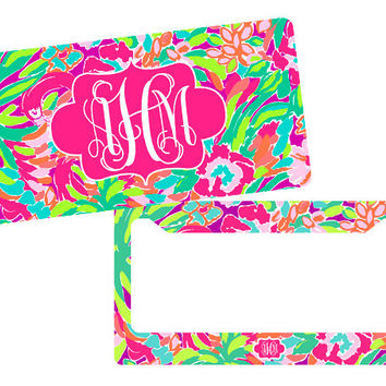 Lilly Inspired Plate, Lilly License Plate, Custom License Plate, License Plate, Personalized Plate, License Plate Frame