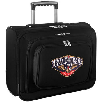New Orleans Pelicans Carry-On Rolling Laptop Bag - Black - http://www.shareasale.com/m-pr.cfm?merchantID=7124&userID=1042934&productID=540319574 / New Orleans Pelicans