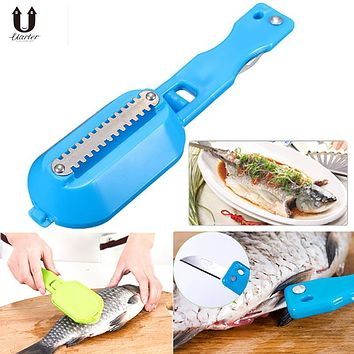 UARTER Clean Convenient Scraping Scale Kill Fish With Knife Machine Creative Multipurpose Home Kitchen Garden Cooking Tool