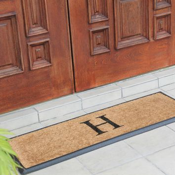 Rubber and Coir Molded Double Doormat-Monogrammed