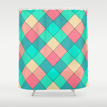 Candy Squares Shower Curtain by Shannon Clark Photo & Art