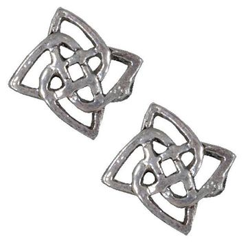 PEAPGQ9 Celtic Flower Knot - Stud Earrings