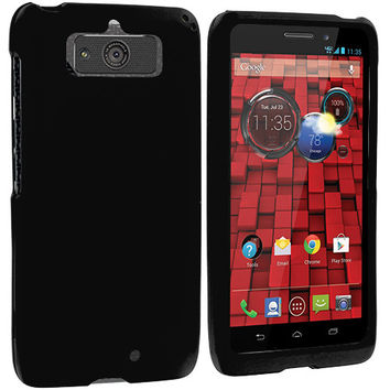 Black Hard Rubberized Case Cover for Motorola Droid Mini XT1030