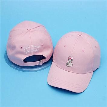 Little Heart Great Love Cap High Quality Girls Outdoor Visor Pink Strapback Hat POLO B