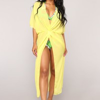 Allure To The Eye Coverup - Yellow