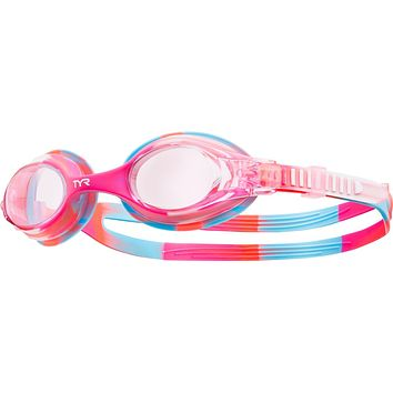 TYR - Swimples Pink Tie Dye Swim Goggles / Clear Lenses