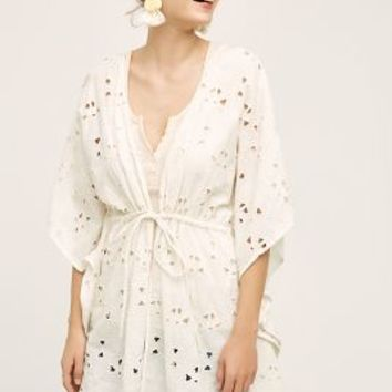 Artura Kimono by Anthropologie in Ivory Size: One Size Tops