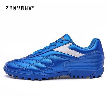 Zenvbnv New Arrival Outdoor Lawn Shoes High Ankle Men Shoes Sports Football futzalki football sneakers soccer cleats shoes Male