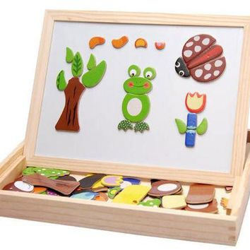 DCCKL72 Free shipping Animal magnetism 3D puzzles kids educational wooden classic  puzzle toys, children gifts,