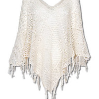 NEW! Wish on the Wind Knit Poncho: Soul-Flower Online Store