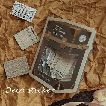 45pcs Vintage property sticker photo album Scrapbook diary paper decoration sticker diy Handmade gift card stickers Arts Craft