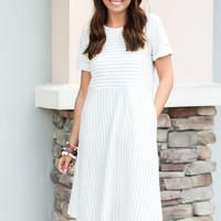 She's The Light Stripe Midi