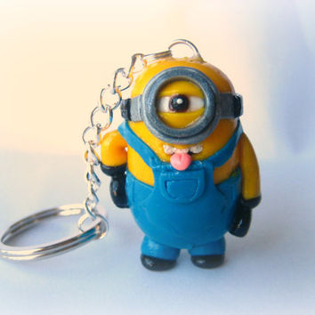 Despicable Me Minion Keychain by MonkeySushi on Etsy