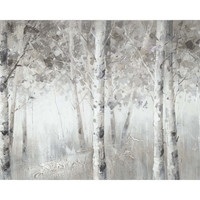 Winter Woodland Wall Décor Acrylic Painting Pine Wooden Bar