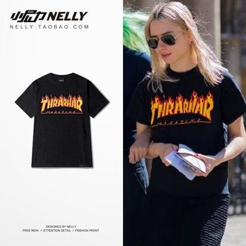 MDIG8H2 Magazine Flame Logo Thrasher Mag Flame Street Wear Lovers T-Shirt