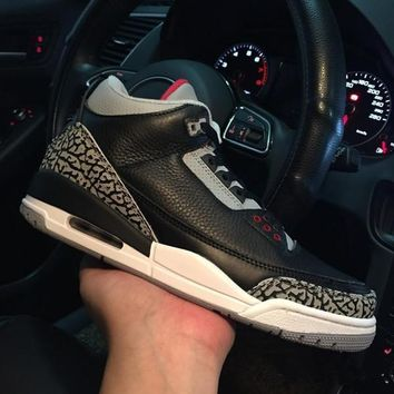Air Jordan 3 Retro 88 Black Cement 136064-010 III Men's Height Increasing Shoes Fashion Shoes Top Quality With Original Box US7-13