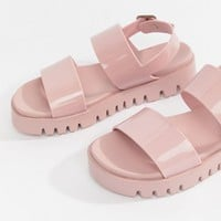 ASOS DESIGN Fadey chunky jelly flat sandals at asos.com