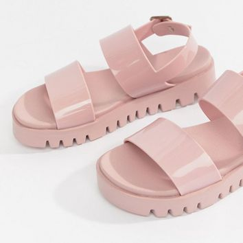 412acef7d40e ASOS DESIGN Fadey chunky jelly flat sandals at asos.com
