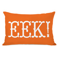 One Bella Casa EEK Text Lumbar Pillow