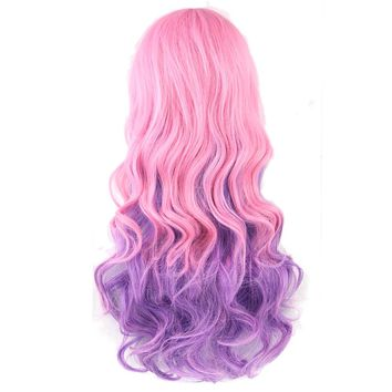 Long Curly Synthetic Colorful Wig