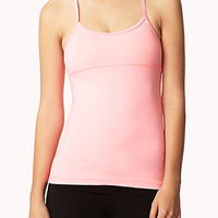 FOREVER 21 Ruched Back Workout Tank
