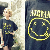 1992 Seattle Grunge Nirvana Smile T- Shirt Size Large