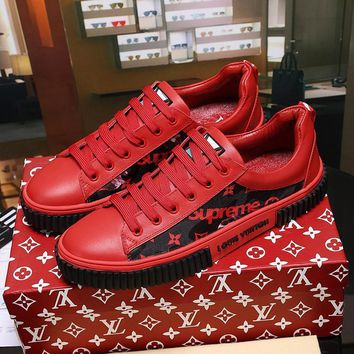 Louis Vuitton X Supreme Fashion Casual Sneakers Sport Shoes