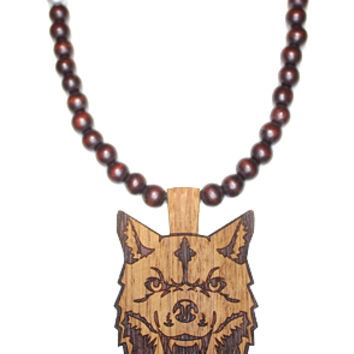 Wooden Necklace | Wolf